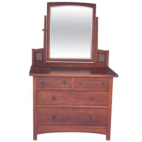 Mission Oak Dresser by Arts And Crafts Mission Oak Dresser With Original Mirror For Sale At 1stdibs