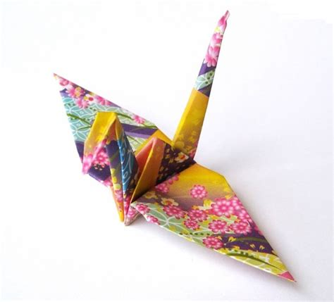 Origami Kimono Pattern - japanese crane origami birds purple kimono pattern