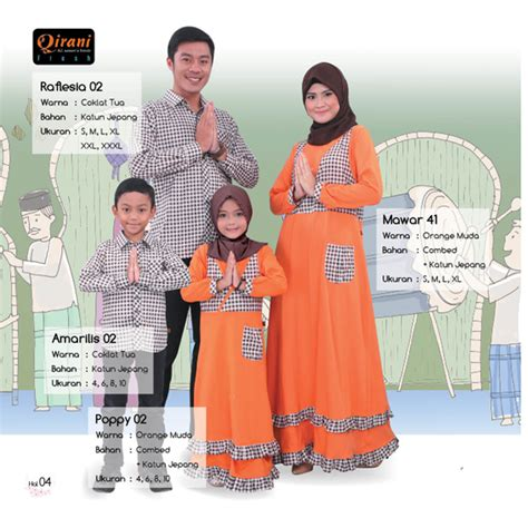 Sarimbit Keluarga Qirani Melati 10 koleksi sarimbit keluarga muslim qirani 02