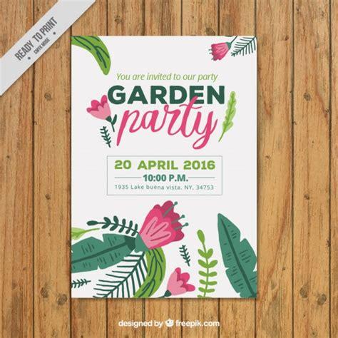 Garten Gestalten Kostenlos by Garten Plakat Vorlage Der Kostenlosen Vektor