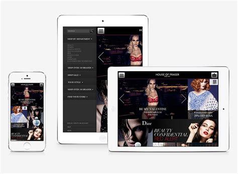 house of fraser designers house of fraser web design and development portfolio digital candy website design and