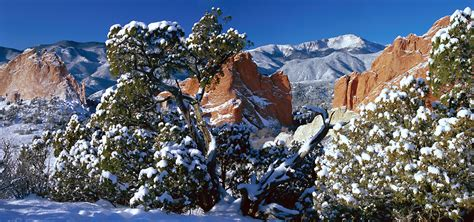 Garden Of The Gods Winter by Garden Of The Gods Panoramic Photograph Photo