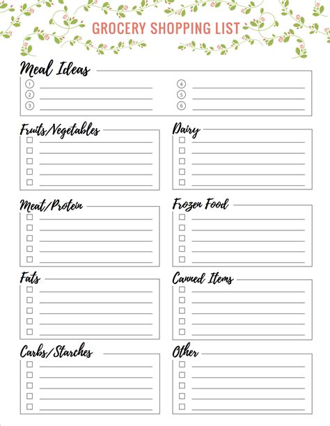 large print grocery list download free grocery shopping list printables lauren gleisberg