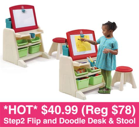 step2 flip doodle easel desk stool 40 99 reg 78 step2 flip and doodle desk with stool easel