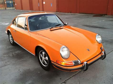 orange porsche 911 signal orange 1970 porsche 911 e bring a trailer