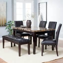 bench dining room table set finley home palazzo 6 dining set with bench dining