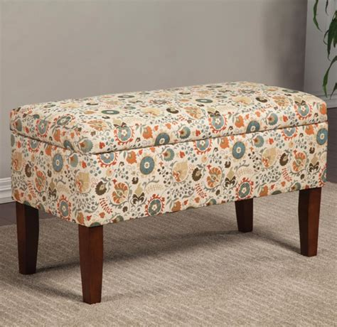 colorful storage bench cream red wood storage bench w colorful print the classy
