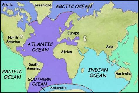 world map oceans