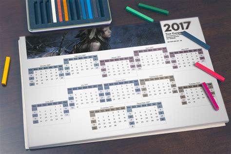 Kalender 2016 A3 Design Wall Calendar Template 2016 And 2017 C1