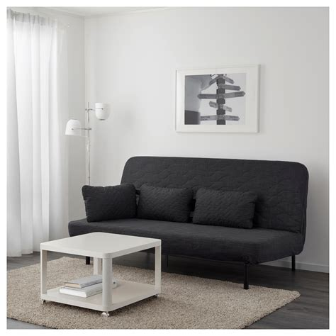 Cushion Sofa Bed Nyhamn Sofa Bed With Cushion With Foam Mattress Skiftebo Anthracite Ikea