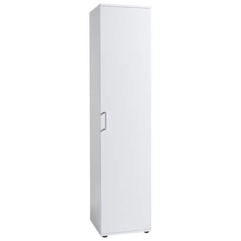 armoire colonne 1 porte meuble de rangement colonne 1 porte 40 cm blanc autres