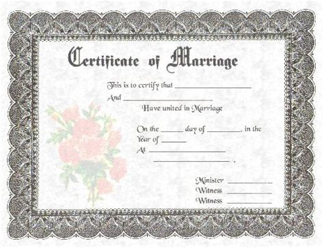 Certification of marriage illinois