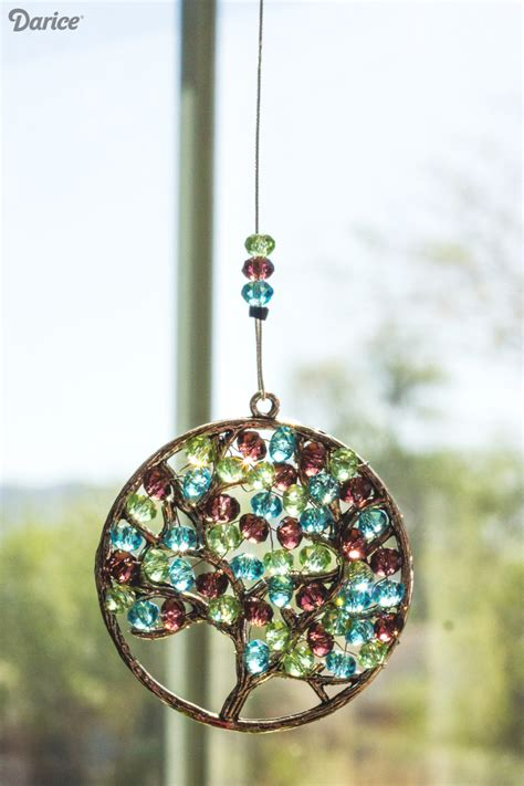 beaded suncatchers diy s day beaded suncatcher tutorial darice