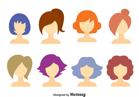 girl hairstyles vector girl hair style collection vector download free vector