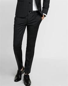 skinny innovator black windowpane wool blend suit pant