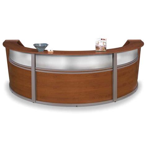 Ofm Marque Plexi Triple Unit Reception Desk In Cherry Ofm Reception Desk