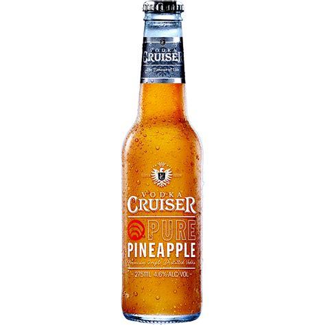 vodka cruiser vodka cruiser pure pineapple 4 6 275ml ready to drink