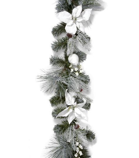 holiday inspirations 66 green white poinsettia pearberry