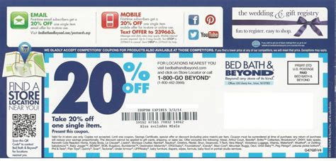 20 Coupon Bed Bath Beyond by Bed Bath And Beyond October Printable Coupons