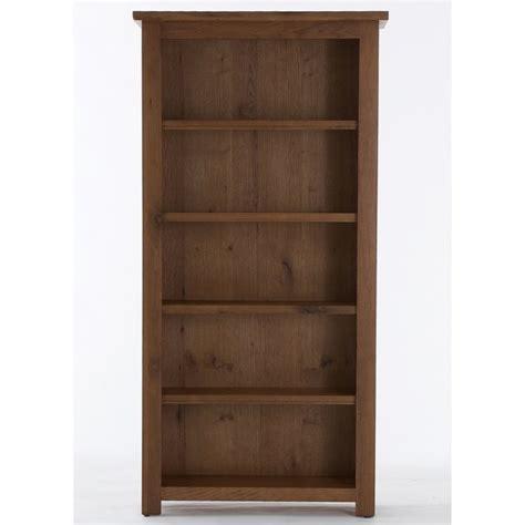 emporium home bretagne rustic oak large bookcase
