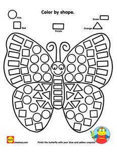color shapes color by shape butterfly printable alexbrands