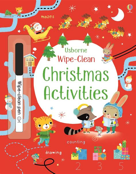 wipe clean christmas activities at usborne children s books