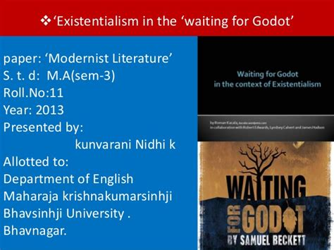 Waiting For Godot Essay by The Modernist Literature