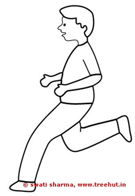coloring page of boy running girls and boys coloring pages