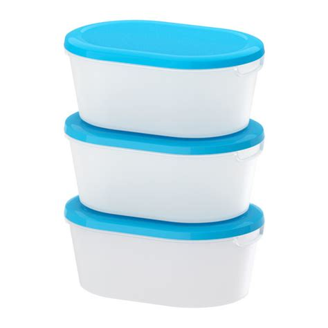 Tupperware Ikea set of 3 food storage containers canisters plastic re