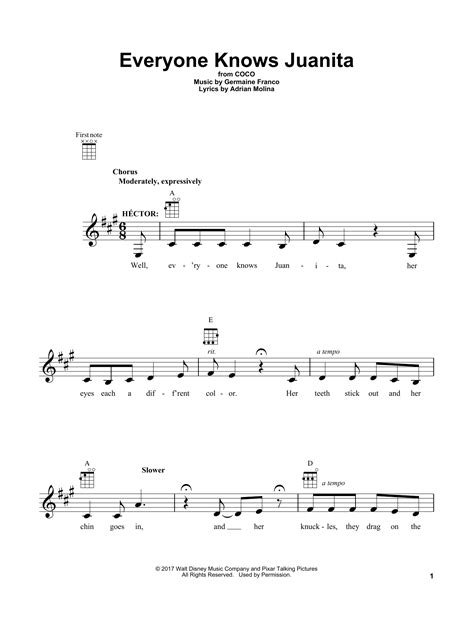 coco juanita song everyone knows juanita sheet music direct