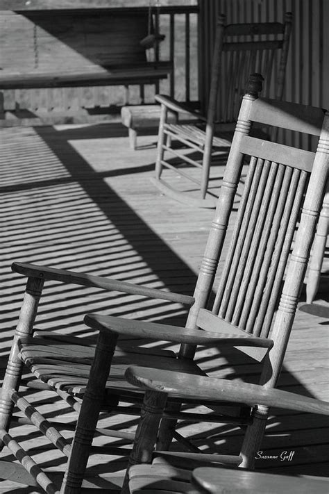 Black And White Rocking Chair rocking chair porch in black and white by suzanne gaff