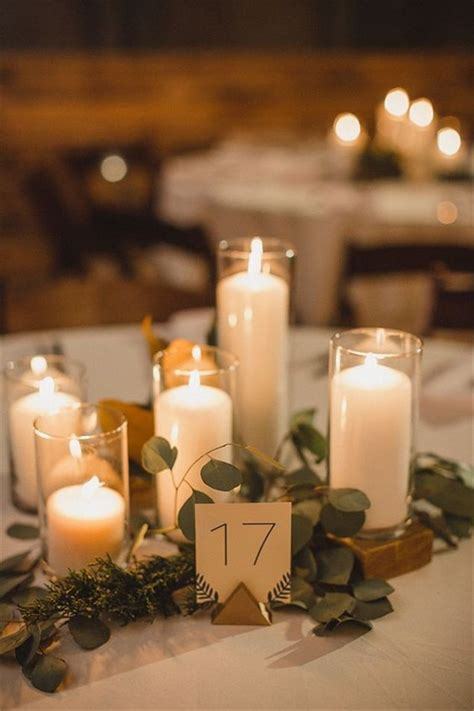 candle centerpieces table 25 best ideas about greenery centerpiece on