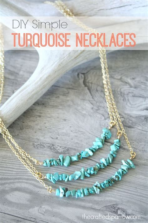 necklace diy ideas diy simple turquoise necklaces the crafted sparrow