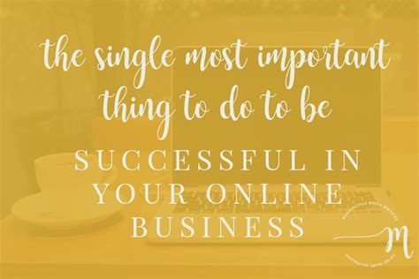 Is Mba Necessary To Be Successful In Business by The Single Most Important Thing To Do To Be Successful In