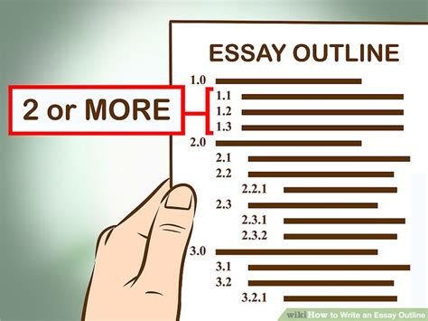 Simple Way To Write An Essay by 3 Easy Ways To Write An Essay Outline Wikihow