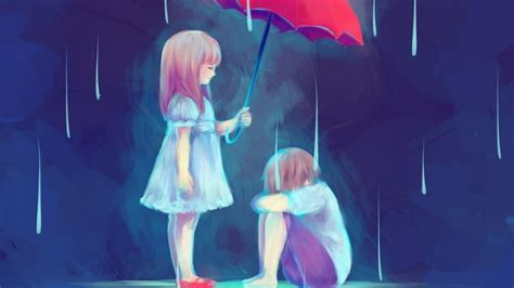 download couple anime sad wallpaper for desktop mobile