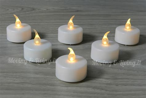 candele a led vendita 6 pz candele candeline a led tea lights batteria