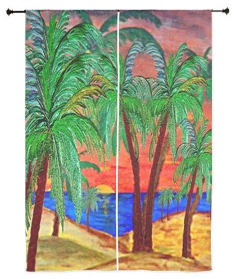 palm tree sheer curtains palm tree tropical sheer curtains mountain sunset palms