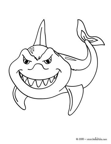 funny shark coloring page funny shark coloring pages hellokids com