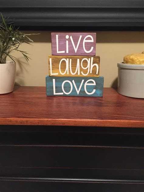 live laugh love home decor live laugh love wood block stacker set home decor sign