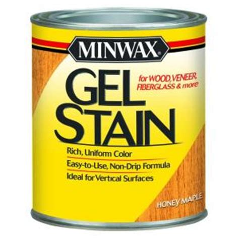 minwax 1 qt honey maple gel stain 66040 the home depot