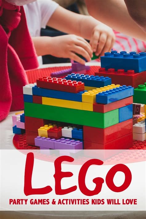 lego themed birthday games lego party game and activity ideas kids will love