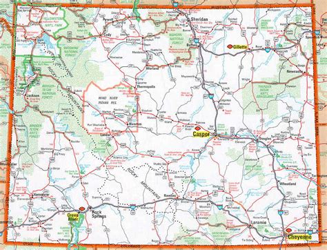 wyo road map hognews state pages wyoming