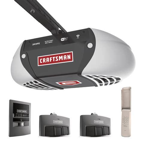 Craftsman 57915 3 4 Horsepower Ultra Quiet Belt Drive Craftsman Belt Drive Garage Door Opener