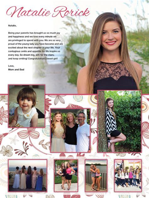 senior quotes layout senior yearbook ads mare design boutique senior page