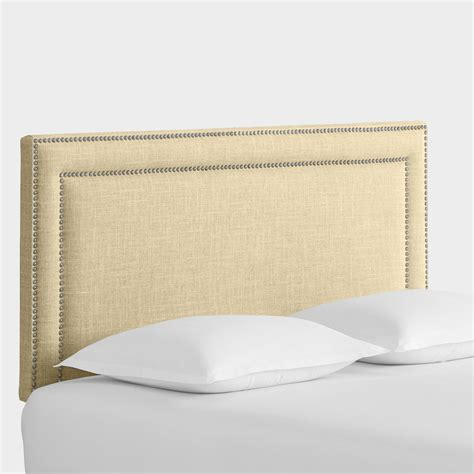 linen headboard linen treyton upholstered headboard world market