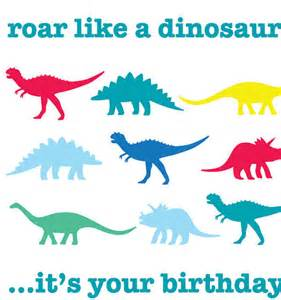 happy birthday wishes with dinosaurs