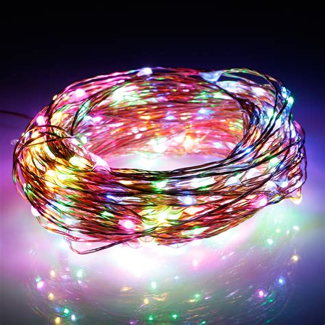 300led 98 ft copper wire led string fairy starry light for