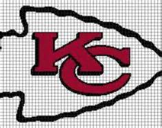 crochet pattern kansas city chiefs afghan kansas city chiefs pattern afghan graph crochet patterns