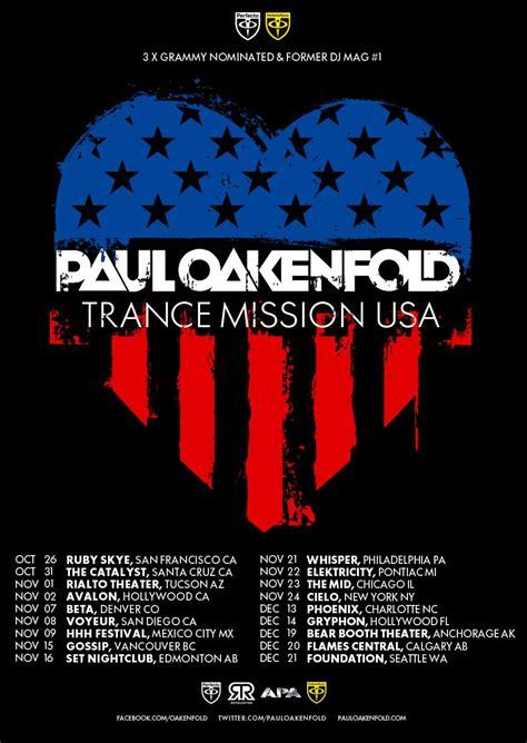 paul oakenfold trance emeraldcityedm paul oakenfold trance mission usa tour